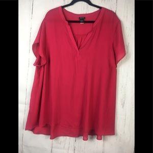 Torrid pink blouse size 3